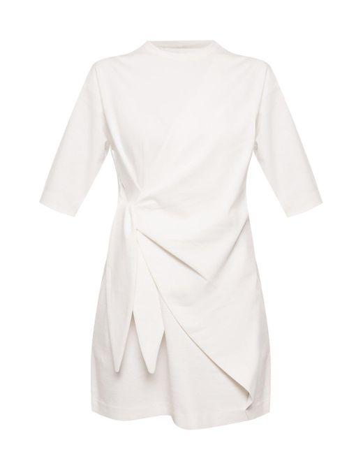 Victoria, Victoria Beckham White Dress With Tie Fastening