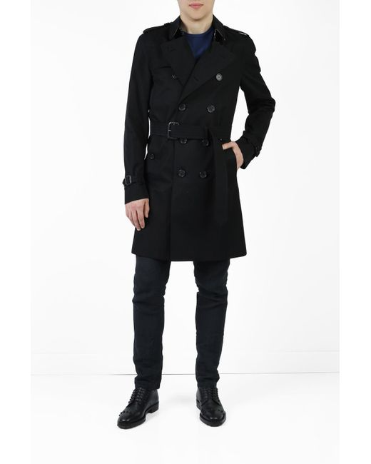 2233380dd081 Lyst - Burberry  the Kensington  Trench Coat in Black for Men - Save 12%