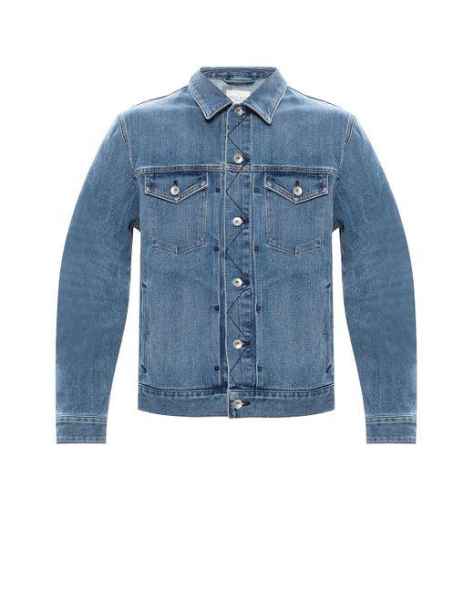 Rag & Bone Blue Definitive Jean Jacket Classic Fit Light Indigo Jean Jacket for men