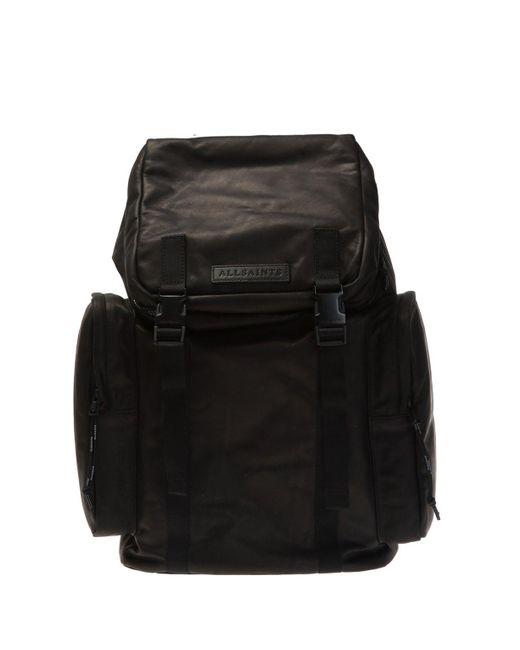 AllSaints Black 'clermont' Backpack for men