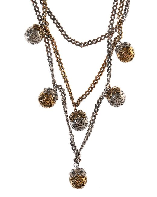 Alexander McQueen - Metallic Necklace With Round Charms - Lyst