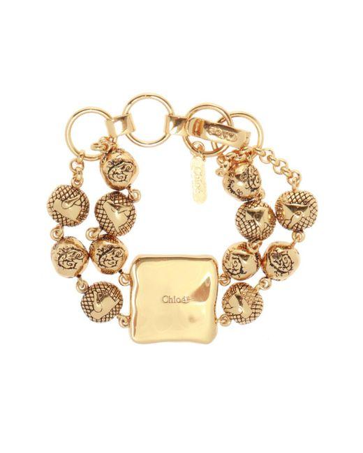 Chloé Metallic Logo-embossed Bracelet
