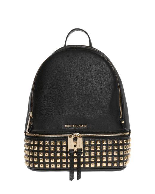 a4ab028c9983 Michael Kors - Black  rhea-zip  Backpack - Lyst ...