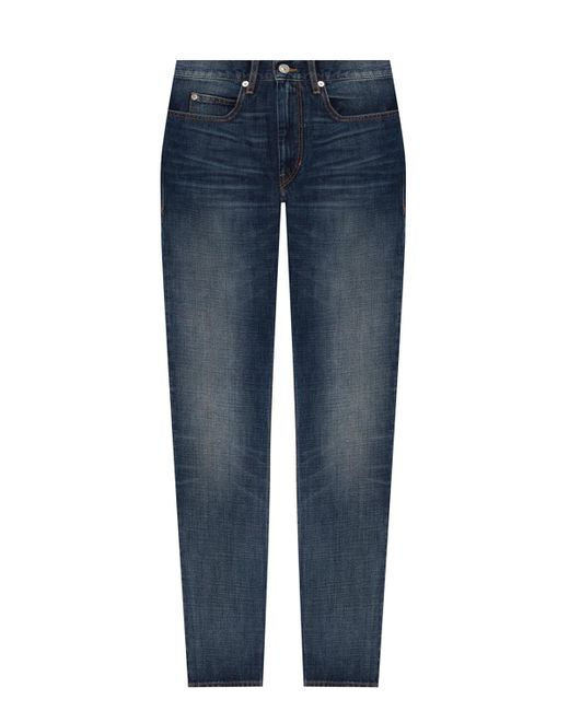 Isabel Marant Jeans With Worn Effect Blue for men