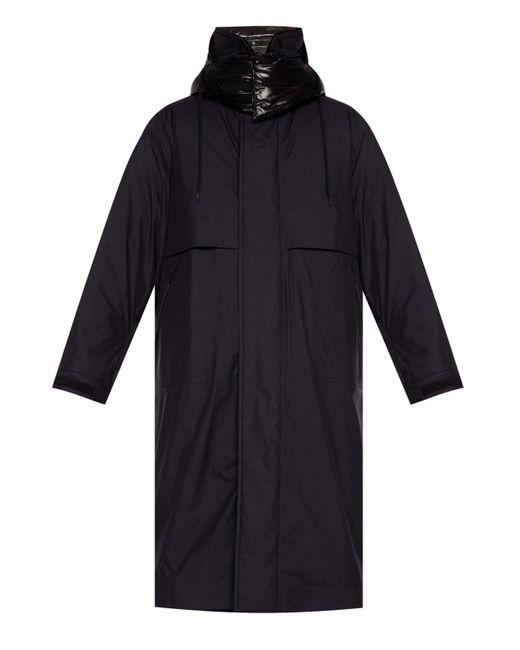 3 MONCLER GRENOBLE Black 'ruinette' Two-layered Coat for men