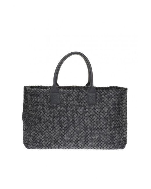 Bottega Veneta - Gray 'cabat' Hand Bag - Lyst