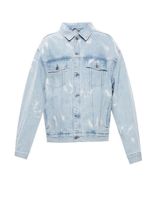 AllSaints 'denby' Distressed Denim Jacket Light Blue for men