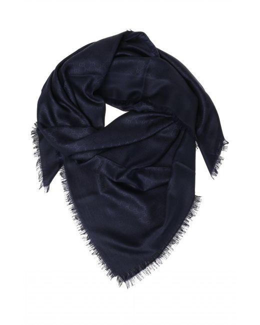 Gucci Blue Silk Shawl