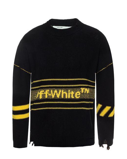 b8831e5b0307 Off-White c o Virgil Abloh - Multicolor Branded Sweater for Men - Lyst ...