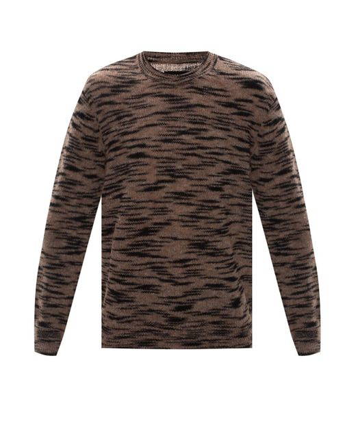 AllSaints Brown 'dali' Patterned Sweater for men
