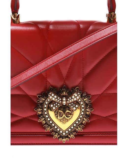 cf5b969dda93 ... Bag - Lyst Dolce   Gabbana - Red  devotion  Shoulder ...