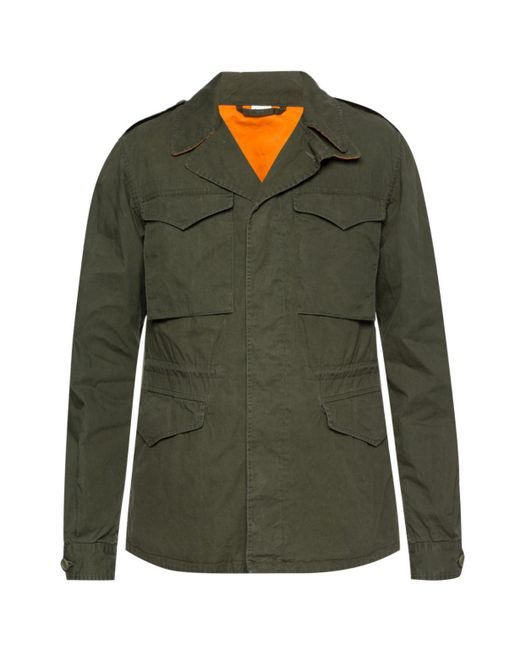 50330130bf55 Gucci - Green Logo Jacket for Men - Lyst ...