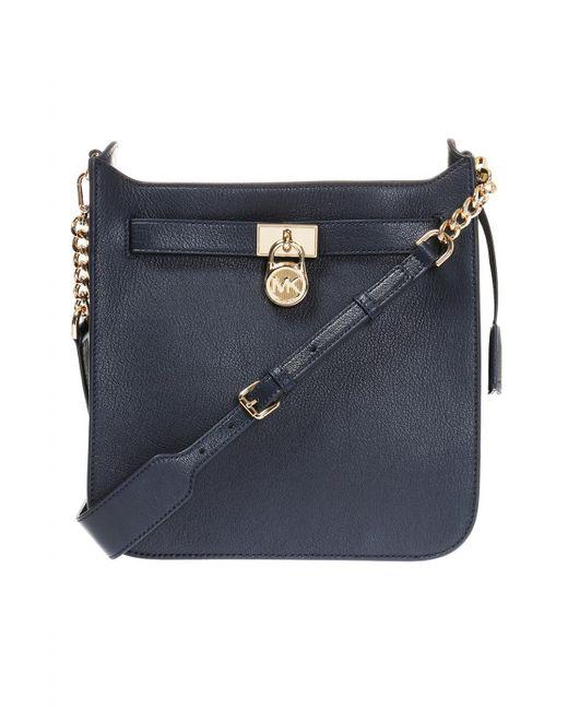 c2c5d0be188f Michael Kors - Blue  hamilton  Shoulder Bag - Lyst ...