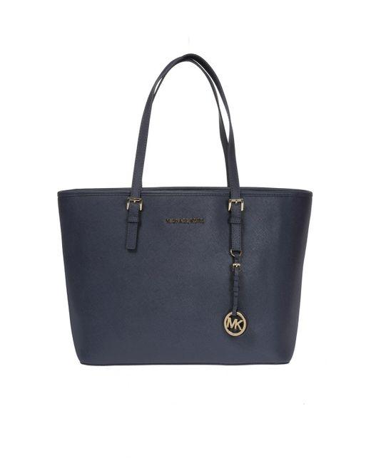 9f6ef629b2a9 Michael Kors - Blue 'jet Set Travel' Shopper Bag - Lyst ...