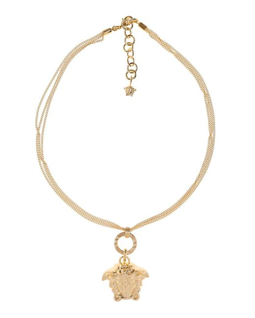 Versace Metallic Medusa Head Necklace
