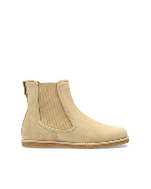 Loewe Natural Suede Ankle Boots Beige for men