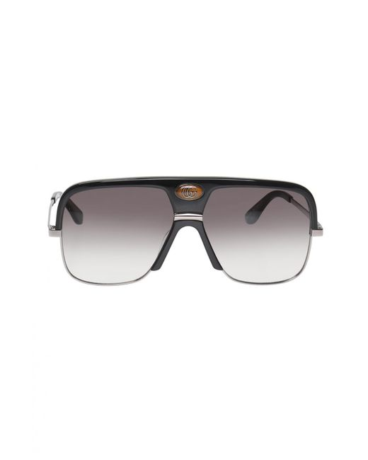d7f69ce21f0 Gucci - Black Sunglasses With A Logo for Men - Lyst ...