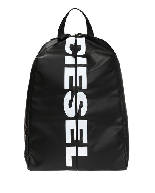 DIESEL Black 'f-bold Back' Logo-printed Backpack for men