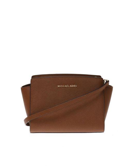 Michael Kors - Brown 'selma' Shoulder Bag - Lyst