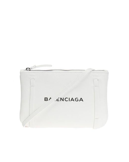 Balenciaga - White 'everyday Pouch' Shoulder Bag - Lyst