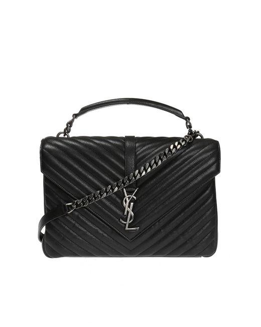 78f608d3ac5f4 Saint Laurent - Black  college  Shoulder Bag - Lyst ...