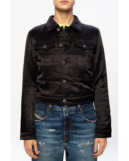DIESEL Black Jacket With Logo