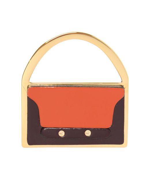 Marni - Multicolor Bag-shaped Brooch - Lyst