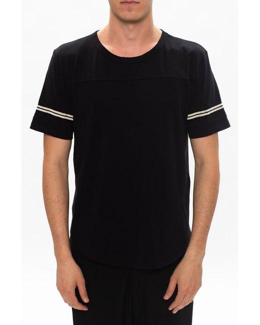 Saint Laurent Black Logo-printed T-shirt for men