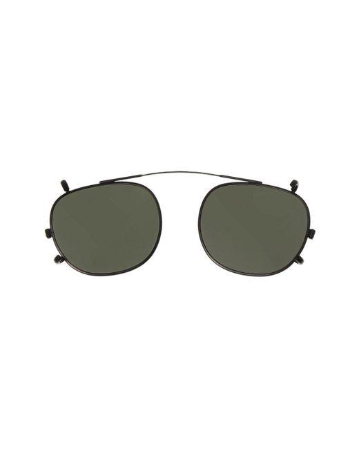 Moscot Men's Black Clip-on Sunglasses