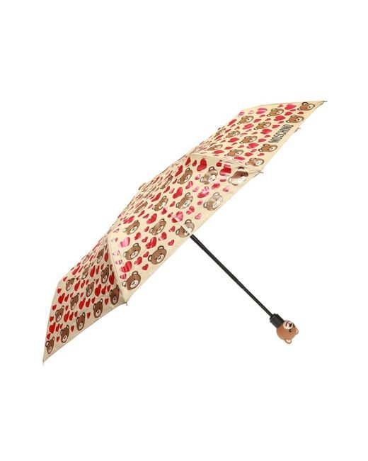 Moschino - Multicolor Foldable Umbrella With Pattern - Lyst