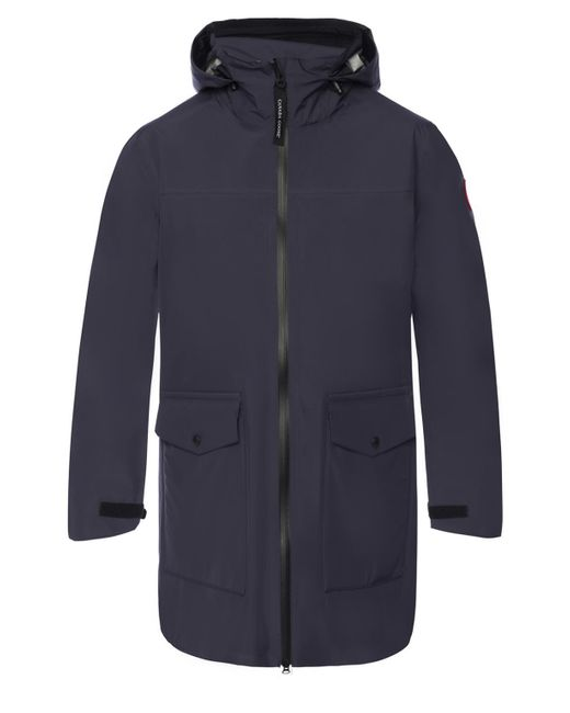 Canada Goose Blue 'wolfville' Drawstring Hood Jacket