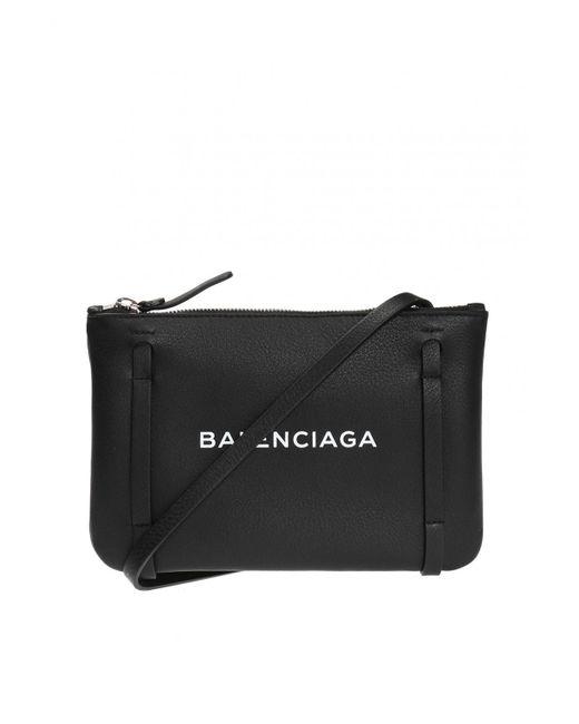 Balenciaga - Black 'everyday Pouch' Shoulder Bag - Lyst