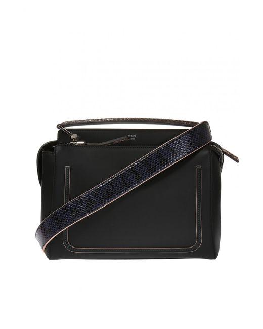 Fendi - Black 'dotcom' Shoulder Bag - Lyst