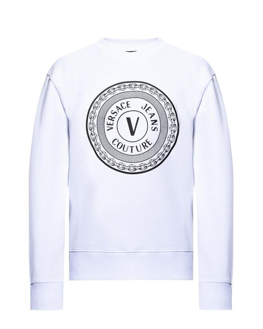 Versace Jeans Sweatshirt With Logo White for men