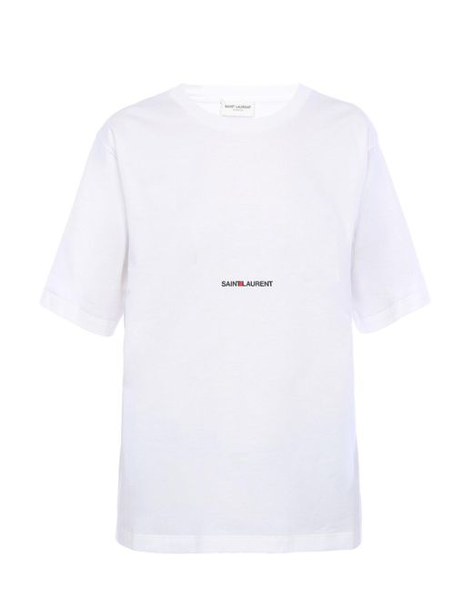 Saint Laurent T-shirts And Polos White