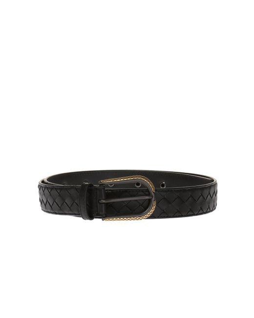 Bottega Veneta - Black Leather Belt for Men - Lyst