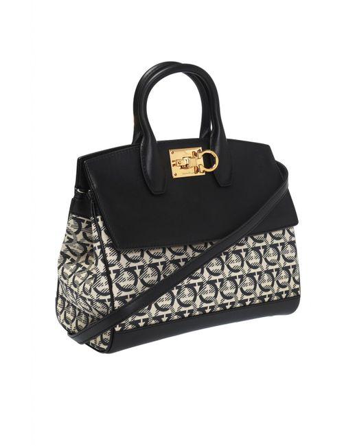 a69276348d ... Lyst Ferragamo - Black  the Studio  Shoulder Bag ...