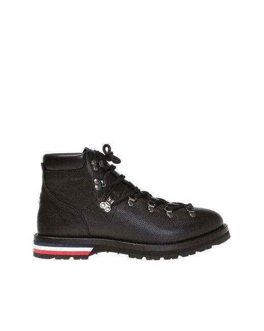 Moncler Black 'peak' Leather Boots for men