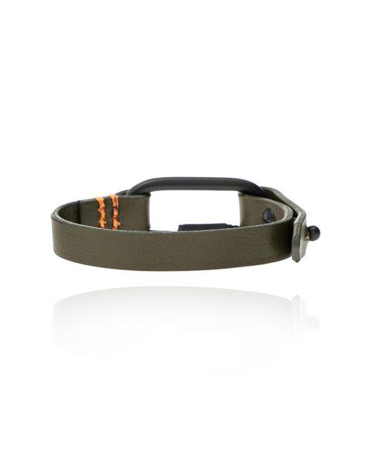 DIESEL Branded Leather Bracelet Multicolor for men