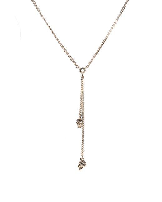 Alexander McQueen - Metallic 'chain Skull' Necklace - Lyst