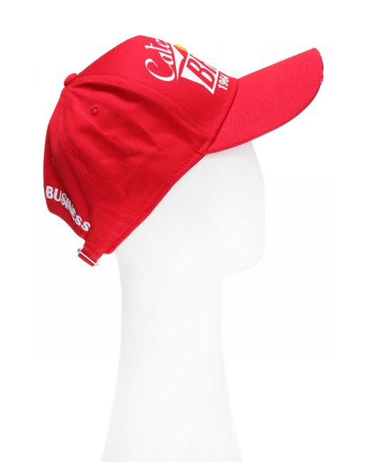 1820e1aa7ace32 ... DSquared² - Red Baseball Cap for Men - Lyst ...