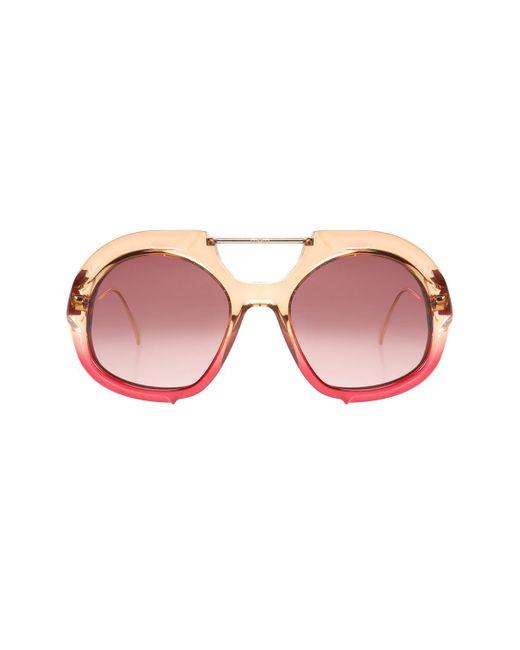 Fendi Orange Sunglasses