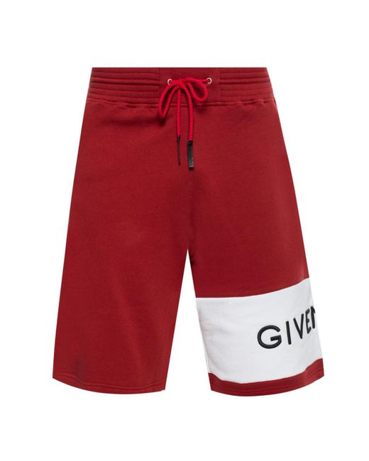 Givenchy Red Branded Shorts for men