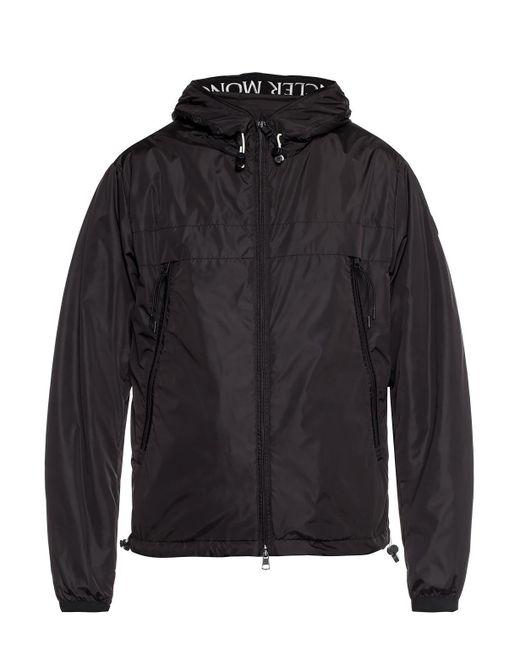 Moncler Black 'massereau' Jacket With Logo for men