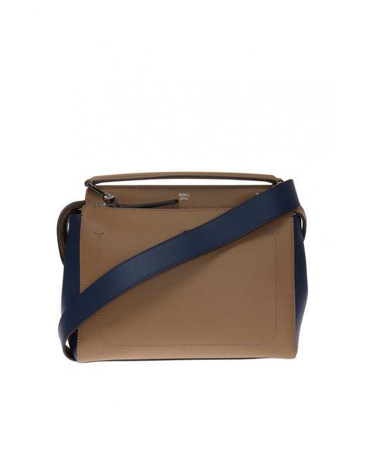 Fendi - Brown 'dotcom' Shoulder Bag - Lyst