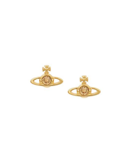Vivienne Westwood | Metallic Nano Solitaire Earrings Light Topaz | Lyst
