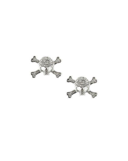 Vivienne Westwood | Metallic Diamante Skull Stud Earrings | Lyst