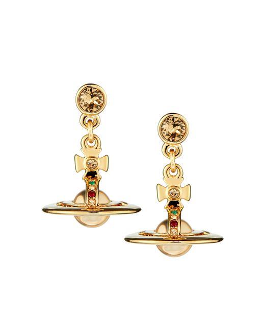 Vivienne Westwood | Metallic Gold New Petite Orb Earrings | Lyst