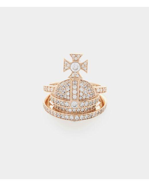 Vivienne Westwood - Metallic Sterling Silver Orb Ring Pink Gold - Lyst