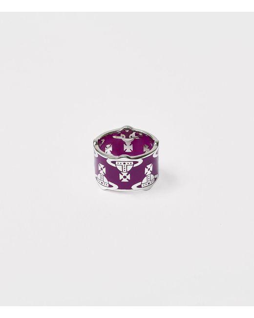 Vivienne Westwood Purple Sybil Ring Dark Violet